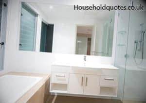 White And Clean Mmern Bathroom Suite