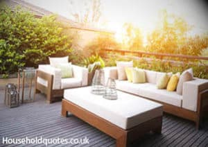 decking with modern patio