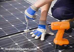 solar panels fitting by professional