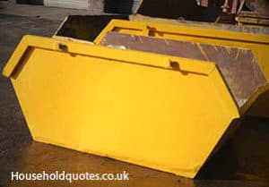 yellow skip container