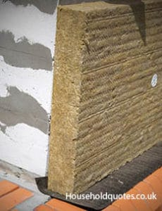 Solid wall with insulation wool