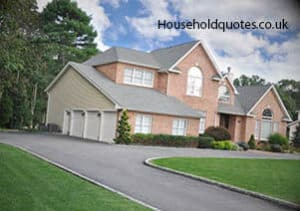 Suburban Home with circular driveway
