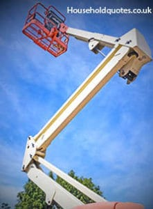 Cherry picker with Vertical composition