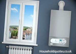 Gas boiler and heating radiator