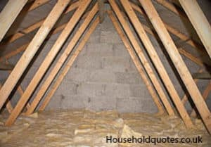 loft insulation under construction