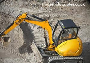 modern yellow mini digger