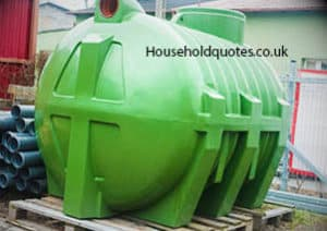 green plastic huge septic tank