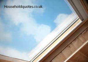 velux window and skylight in close up