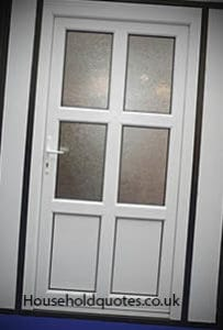 Upvc front Door With Glass Window