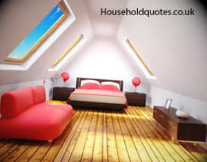 Loft conversion with red furniture